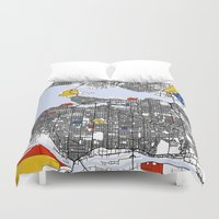 vancouver Duvet Covers featuring Vancouver by Mondrian Maps