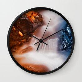 Stream of Fire & Ice Wall Clock