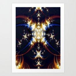 Crescent Stars Art Print