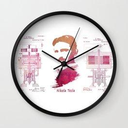 Nikola Tesla - Apparatus for aerial transportation Wall Clock