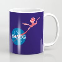 "smaug Mugs featuring Smaug ""Meatball"" crest by Firepower"