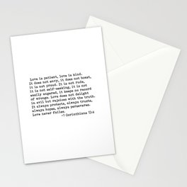 Love is patient... Stationery Cards