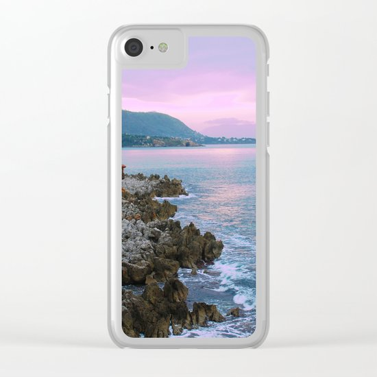 Cefalu Italy Coast Sunset Clear iPhone Case