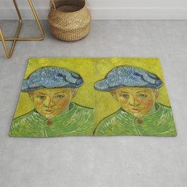 "Vincent van Gogh ""Portrait of Camille Roulin"" Rug"