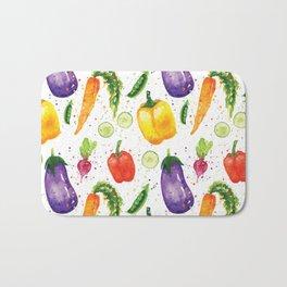 Very Veggie Pattern Bath Mat