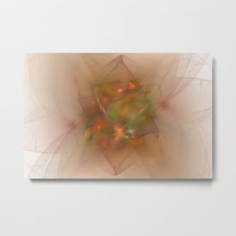 Folds In Muted Rainbow Metal Print