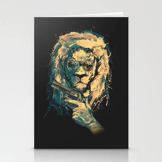 Lion is always Cool Stationery Cards