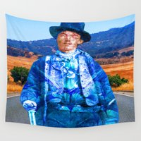 butcher billy Wall Tapestries featuring Billy the Kid by ICARUSISMART