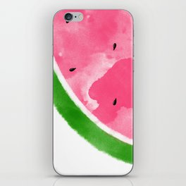 Watermelon Watercolor iPhone Skin
