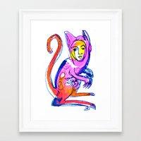 kangaroo Framed Art Prints featuring Kangaroo by Dawn Patel Art