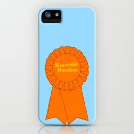 Honorable Mention Ribbon iPhone Case