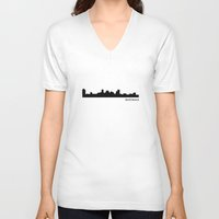 baltimore V-neck T-shirts featuring Baltimore by Fabian Bross