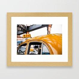 Calcutta Taxi Framed Art Print