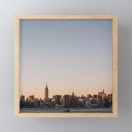 USA Photography - Sunset In New York City Framed Mini Art Print