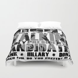 The Walking Presidential Candidates (all over) by Jeronimo Rubio 2016 Duvet Cover