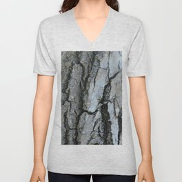 TEXTURES -- Fremont Cottonwood Bark Unisex V-Neck