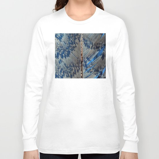 Feather | Feathers | Spiritual | Blue Feather Long Sleeve T-shirt