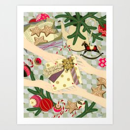 Merry Christmas gift Art Print