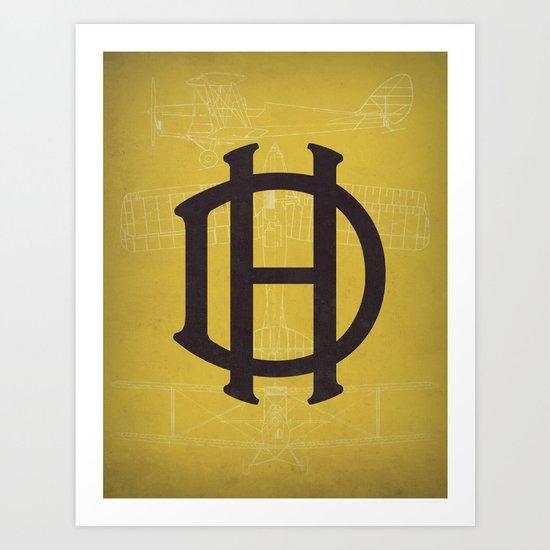 De Havilland (Tigermoth) Art Print