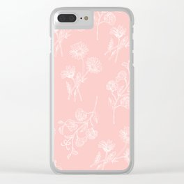 Pink Daisy & Sweet Pea Clear iPhone Case