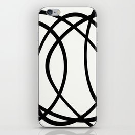 Community - Black and white abstract iPhone Skin