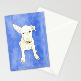 English bull terrier puppy pop art Stationery Cards