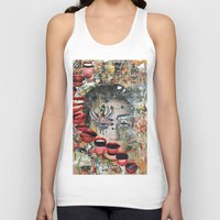 lip Tank Tops featuring Lip Service by Katy Hirschfeld