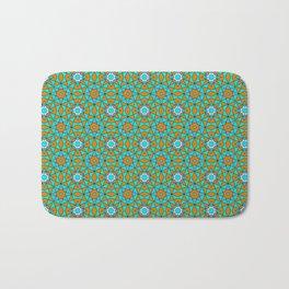 Moroccan Tile 1A - Blue Bath Mat