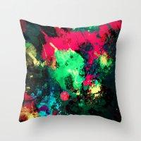 splash Throw Pillows featuring Splash by RIZA PEKER