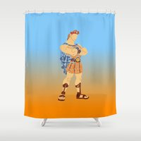 hercules Shower Curtains featuring Hercules by pokegirl93