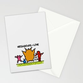 Keith Haring & The neighbours Stationery Cards