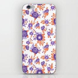 University football fan alumni clemson orange and purple floral flowers gifts iPhone Skin