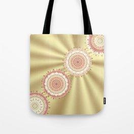 Delicate Mandalas on Gold Tote Bag