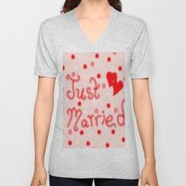 Just Married Unisex V-Neck