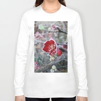 jack frost Long Sleeve T-shirts featuring Flower in Frost by Nightmare Paradise