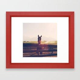 Earth Reins Horse Framed Art Print