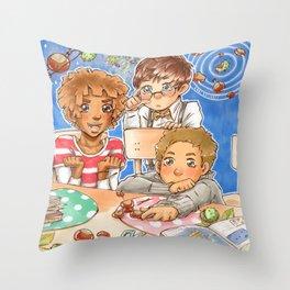 Kastaniengalaxie Throw Pillow