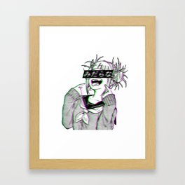 LEWD - SAD JAPANESE ANIME AESTHETIC Framed Art Print