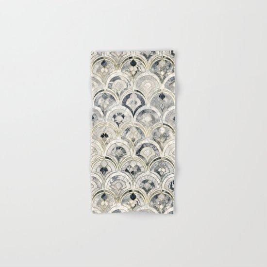 Monochrome Art Deco Marble Tiles Hand & Bath Towel
