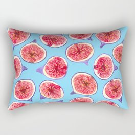 Fig slices watercolor pattern Rectangular Pillow