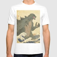 Godzilla Ukiyo-e  X-LARGE Mens Fitted Tee White