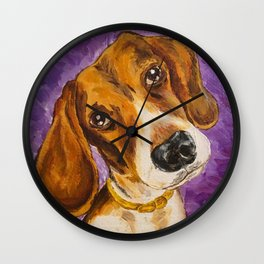 Arrogant Puppy Wall Clock