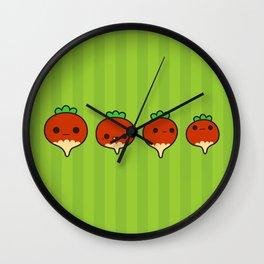 Cute radishes Wall Clock
