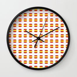 Flag of spain 16 - with soft square Wall Clock