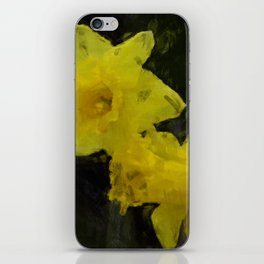 Yellow Daffodils Impressionist Painting iPhone Skin