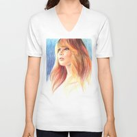 jennifer lawrence V-neck T-shirts featuring Jennifer Lawrence by xDontStopMeNow
