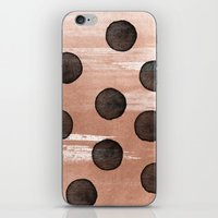 rose gold iPhone & iPod Skins featuring rose gold #2 by LEEMO