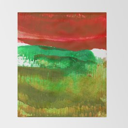 Encaustic Abstract No.27L by Kathy Morton Stanion Throw Blanket
