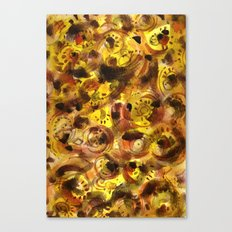 Bird and bugs on a sunny day. Canvas Print