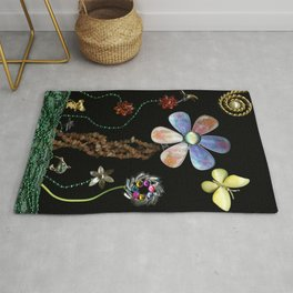 Happy Day in the Garden, Jewelry Scanography Rug